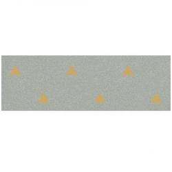 Faience murale verte motif triangle or 32x99cm BARDOT-R Mar - 1.27m² Vives Azulejos y Gres