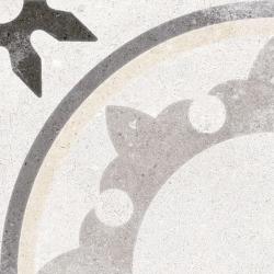 Carrelage style carreau ancien 20x20 cm Fiyi Blanco - 1m²