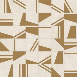 Carrelage motifs géométriques 20x20 cm Kokomo Creme Or - 1m²