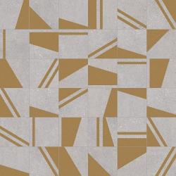 Carrelage motifs géométriques 20x20 cm Kokomo Gris Or - 1m²