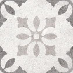 Carrelage motif ancien 20x20 cm Pukao Blanco - 1m²