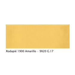 Plinthe intérieur vieillie 1900 9x20 cm JAUNE AMARILLO - 2mL