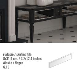 Plinthe intérieur Blanc Alaska 8x31.6 cm - 10.11mL Vives Azulejos y Gres
