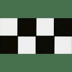 Frise carré noir et blanc 10x20 cm Composicion Lautrec - 1mL Vives Azulejos y Gres
