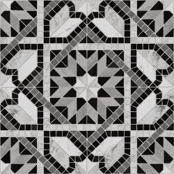 Carrelage style mosaïque étoilé 43.7x43.7 Cilena-Pr Negro - 0.95m² Vives Azulejos y Gres