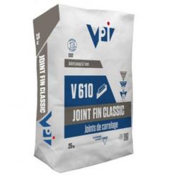 Joint fin classic pour carrelage V610 acier - 25 kg Faetano