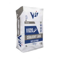 Cerajoint large pour carrelage V620 gris acier - 25kg