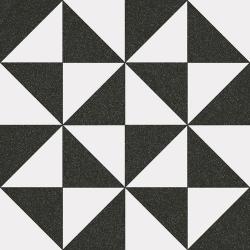 Carrelage style ciment triangles blanc noir 20x20 cm 1900 TERRADES Grafito - 1m²