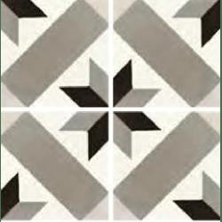 Carreau de ciment décor géométrique gris taupe 20x20 cm ref1150-5 - 0.48m²