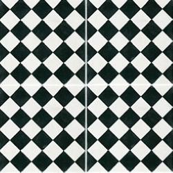 Carreau de ciment damier noir et blanc 20x20 cm ref450-1 - 0.48m²