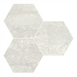 Carrelage hexagonal effet industriel RUST WHITE NAT 25x30 cm - 0.935m²