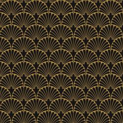 Art-Deco Black Manhattan Natural - Rectifié - 29x29 cm - 1,15m²