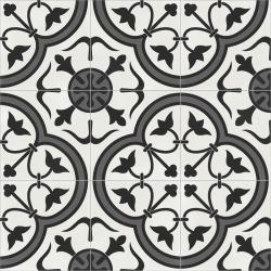 Carrelage quadrillage effet ciment rectifié - Vienna Gloriette Natural 59.2x59.2 cm - R10 - 1,402m²