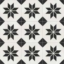 Carrelage quadrillage effet ciment rectifié - Vienna Belvedere Natural 59.2x59.2 cm - R10 - 1,402m²