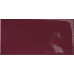 Faience effet zellige pourpre 6.5x13.2 VILLAGE AUBERGINE 25628 - 0.5 m²