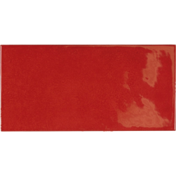 Faience effet zellige rouge 6.5x13.2 VILLAGE VOLCANIC RED 25581 - 0.5 m²