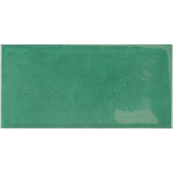 Faience effet zellige vert émeraude 6.5x13.2 VILLAGE ESMERALD GREEN 25584 - 0.5 m²
