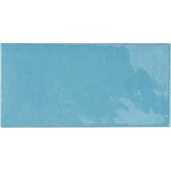Faience effet zellige bleu azur 6.5x13.2 VILLAGE AZURE BLUE 25629 - 0.5 m²