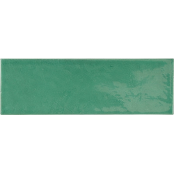 Faience effet zellige vert émeraude 6.5x20 VILLAGE ESMERALD GREEN 25645 - 0.5 m²
