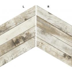 Carrelage losange blanc bois 70x40 DIAMOND PALLET CHEVRON - 0.98m²