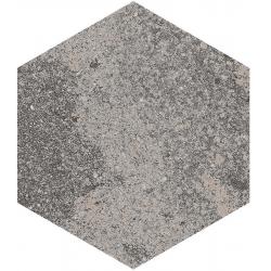 Carrelage hexagonal effet pierre 23x26,6m BRANSON BASALTE - 0.5m²