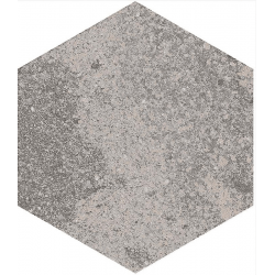 Carrelage hexagonal effet pierre 23x26,6m BRANSON GRIS - 0.5m²