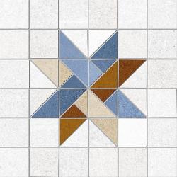 Carrelage décoration quadrillé 20x20 cm ABILENE Rectifié - 1m²