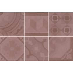 Carrelage imitation ciment 20x20 cm ESCAMETTE ROSE - 1m²