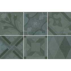 Carrelage imitation ciment 20x20 cm ESCAMETTE BLEU - 1m²