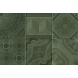 Carrelage imitation ciment 20x20 cm ESCAMETTE VERT - 1m²