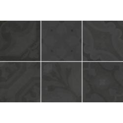 Carrelage imitation ciment 20x20 cm ESCAMETTE NOIR - 1m²