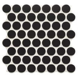 Carrelage imitation mosaïque 30,9x30,9 cm CIRCLE BLACK - 0.86m²