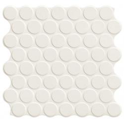 Carrelage imitation mosaïque 30,9x30,9 cm CIRCLE WHITE - 0.86m²