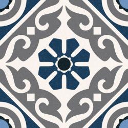 Carrelage style ancien ciment MADRAS BLUE 16.5x16.5 cm - 0.55m²