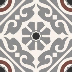 Carrelage style ancien ciment MADRAS GREY 16.5x16.5 cm - 0.55m²
