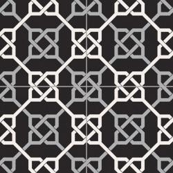 Carrelage style ancien ciment NATTE BLACK 33x33 cm - 1.32m²