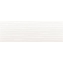 Faïence moderne unie blanche brillante à relief 30x90 cm - WICHITA Rectifié - 1.08m²