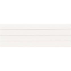 Faïence moderne unie blanche brillante à relief 30x90 cm STANFORD rectifié - 1.08m²