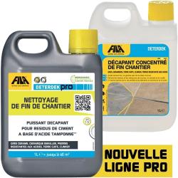 Désincrustant acide pour sol décapant fin de chantier Deterdek 1 L Baldocer