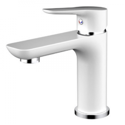 Mitigeur lavabo YREKA Blanc/Chromé