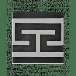 Carreau de ciment frise noir gris blanc 20x20 cm ref4670-1 - Unité