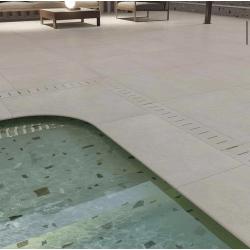 Carreau style granito coloré 80x80 cm NAPPAGE DECOR IVOIRE -R10- 1.28m²