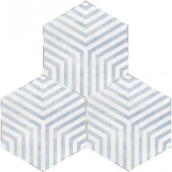 Carrelage tomette 14x16 cm CAMBRIDGE DECOR LAZARETTO - 0.50 m²