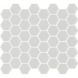 Mosaïque mini tomette hexagonale blanc 30x30 cm SIXTIES WHITE mate - 1m²