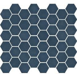Mosaïque mini tomette hexagonale 30x30 cm SIXTIES BLUE mate - 1m²