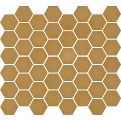 Mosaïque mini tomette hexagonale 30x30 cm SIXTIES MOUTARDE mate - 1m²