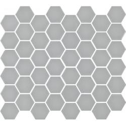 Mosaïque mini tomette hexagonale 30x30 cm SIXTIES GRIS mate - 1m²