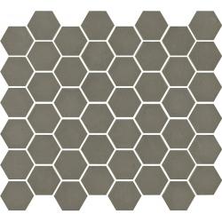 Mosaïque mini tomette hexagonale 30x30 cm SIXTIES TAUPE mate - 1m²