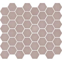 Mosaïque mini tomette hexagonale 30x30 cm SIXTIES ROSE mate - 1m²