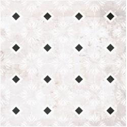 Carrelage aspect ciment décoré 20x20 cm ANABAR - 0.52 m²